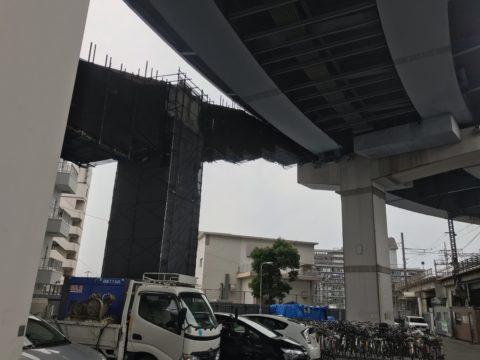 R2施工 阿倍野歩道橋補修工事